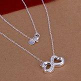 Infinity Halsband med Cubic Zirconia