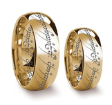 """LORD OF THE RINGS"" 18K GULDFYLLD TUNGSTENS RING"