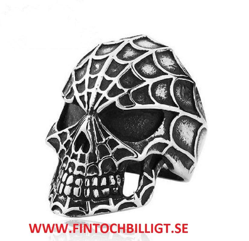 Smycken Fint och Billigt Spider Skull 316L Rostfritt Stål Ring
